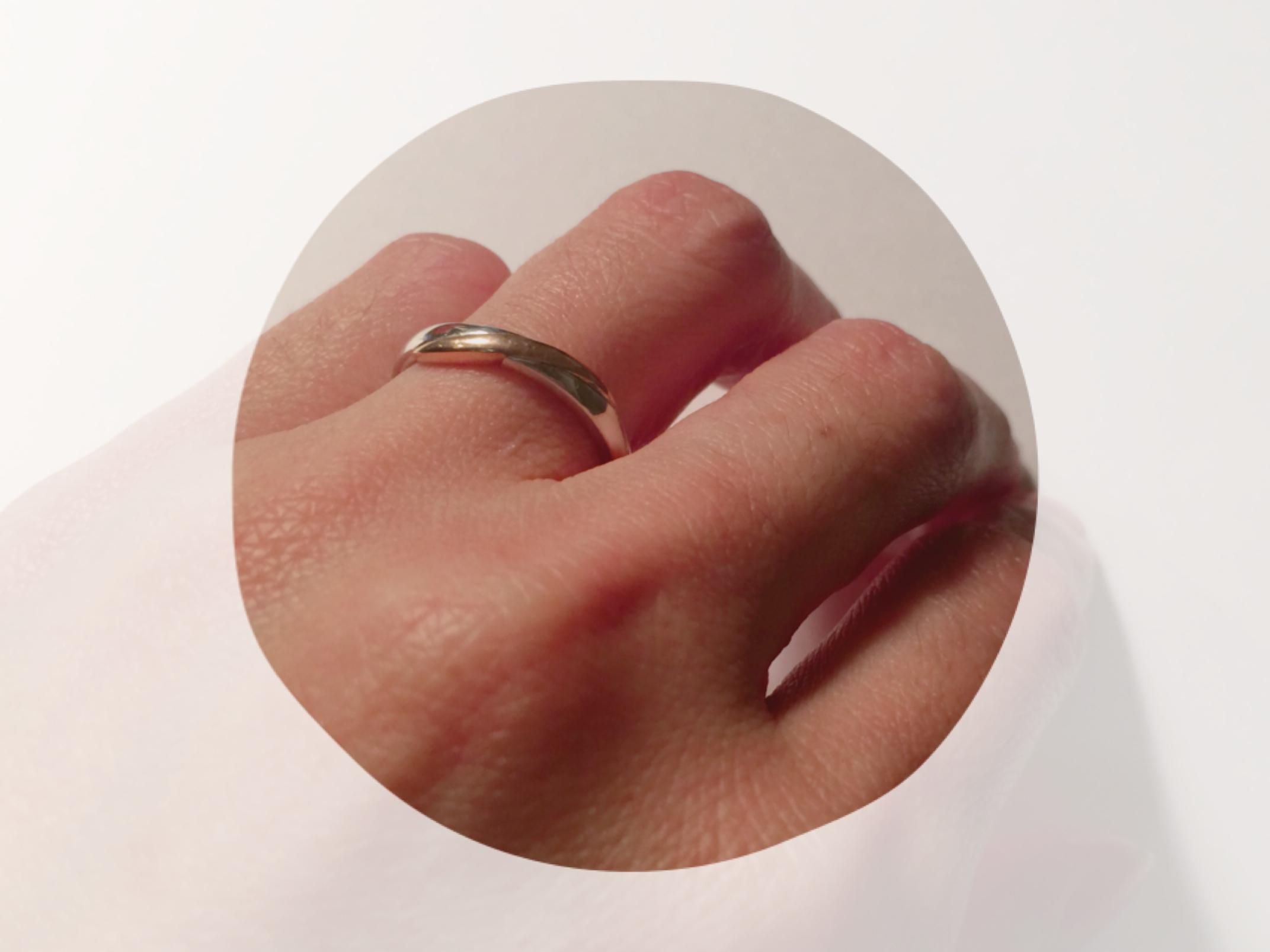 どんどんと結婚指輪。